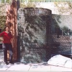 Elonka in CIA at Kryptos