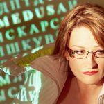 Elonka Dunin with crypto-text